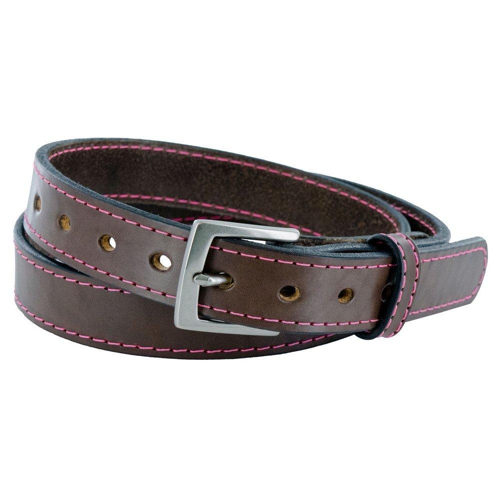 Hanks Bonnie - Hanks Bonnie - Womens CCW Leather Gun Belt - USA Made - 1.25'' - 100 Year Warranty - BRN PNK - XLG by Hanks Belts