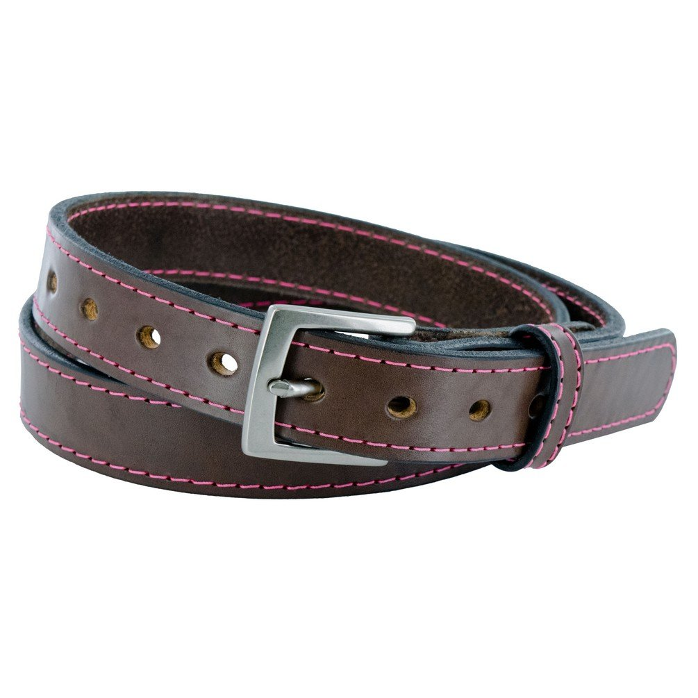 Hanks WA2455 - Womens Concealed Carry Belt Brown with Pink Stitching - Small