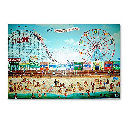 CafePress - Coney Island Painting - Postcards (Package of 8), 6