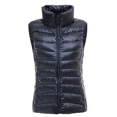 J-SUN-7 Women's Outdoor Ultralight Light Weight Packable Down Vest Outerwear Puffer Gilet Coat
