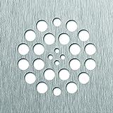 Tile Redi USA DP-SQ-BN Drain Shower Drain, 4.25'' D x 4.25'' W, Brushed Nickel