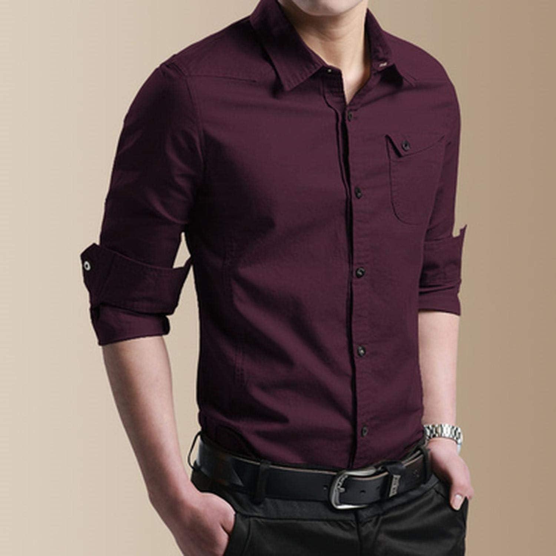 Hiloo fashion-sweatshirts Thin Breathable Military Men Shirts Long Sleeve Slim Mens Shirts Summer Business Clothing