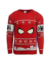 Numskull Official Marvel Spiderman Christmas Jumper/Ugly Sweater - (UK 3XL/US 2XL)