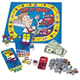 Reinforce the importance of money recognition, adding, and making correct change through fun game play. Set prices, buy and sell items, and learn the value of money as you move around the game board. Includes game board, calculator, game pieces, 40 p...