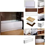 Bath Panel Side Front Cover Flat White Acrylic Plastic Adjustable 1700