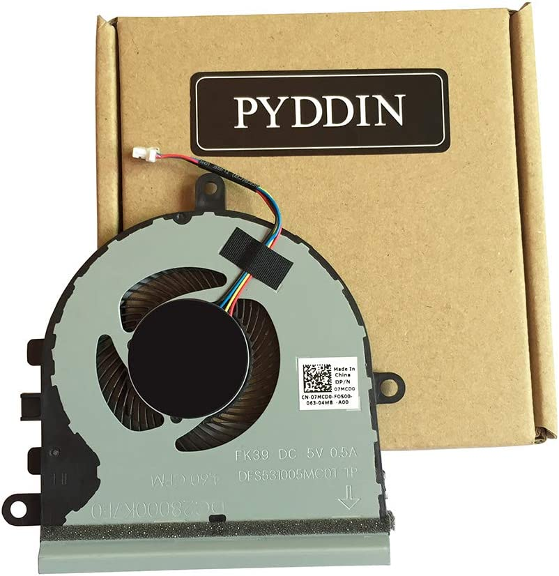 New Laptop CPU Cooling Fan for Dell Inspiron 15 5570 5575 3533 3583 3585 5593 Series 07MCD0