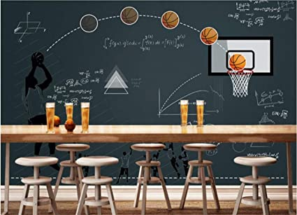 Papel Pintado Baloncesto Pizarra Función Restaurante Bar ...