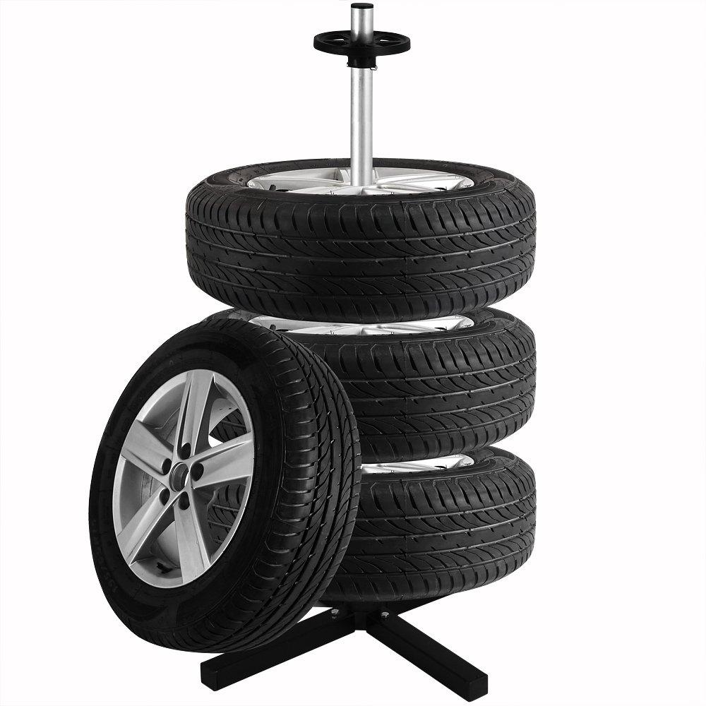 Support de rangement arbre /à pneu porte pneu mobile jantes rangement 4 pneus