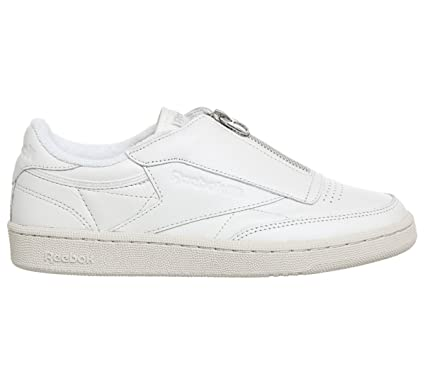 ee124d09e1a6a Amazon.com  Reebok Club C 85 Zip Womens Sneakers White  Clothing