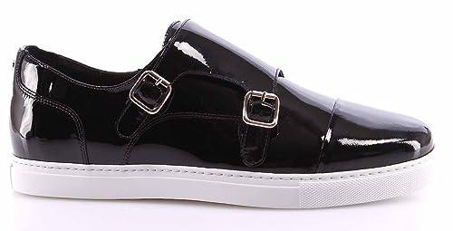 Zapatos Sneakers Hombre DSQUARED Vernice Nero Cuero Brillante Negro Made Italy: Amazon.es: Zapatos y complementos