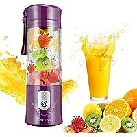 Rhythm's Plastic Portable USB Electric Juicer, Blender Drink Bottle, 380 ml, Multicolour