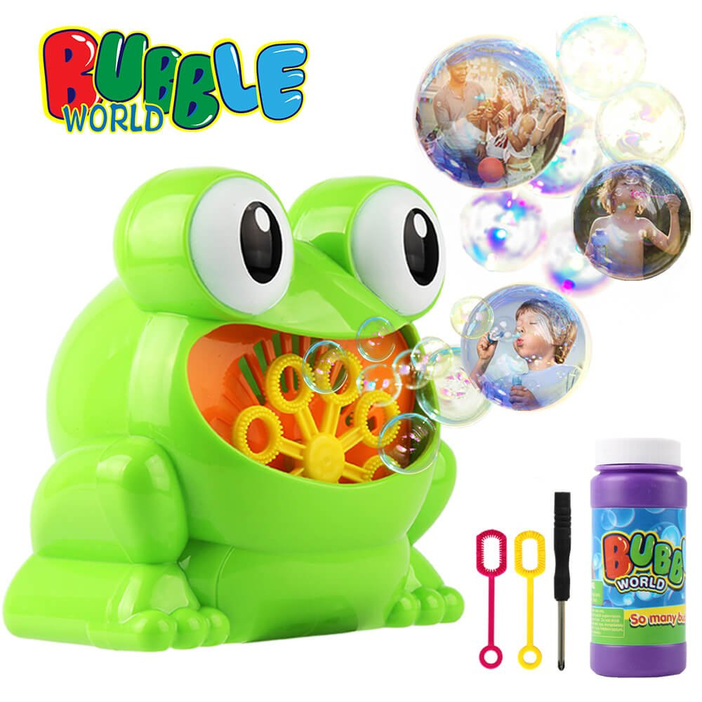 MagicMB Kids Electric Bubble Machine Frog Portable AutomaticBlower Bubble Maker Toy for Child, Over 500 Colorful Bubble per Minute, Good for Kids BirthdayParty, Indoor Outdoor Activities, Wedding