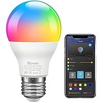 Govee LED RGB-lamp, dimbaar 7W E27 RGB + W Sync met muziekkleurwissellamp met APP | Dimbare veelkleurige lampen voor…