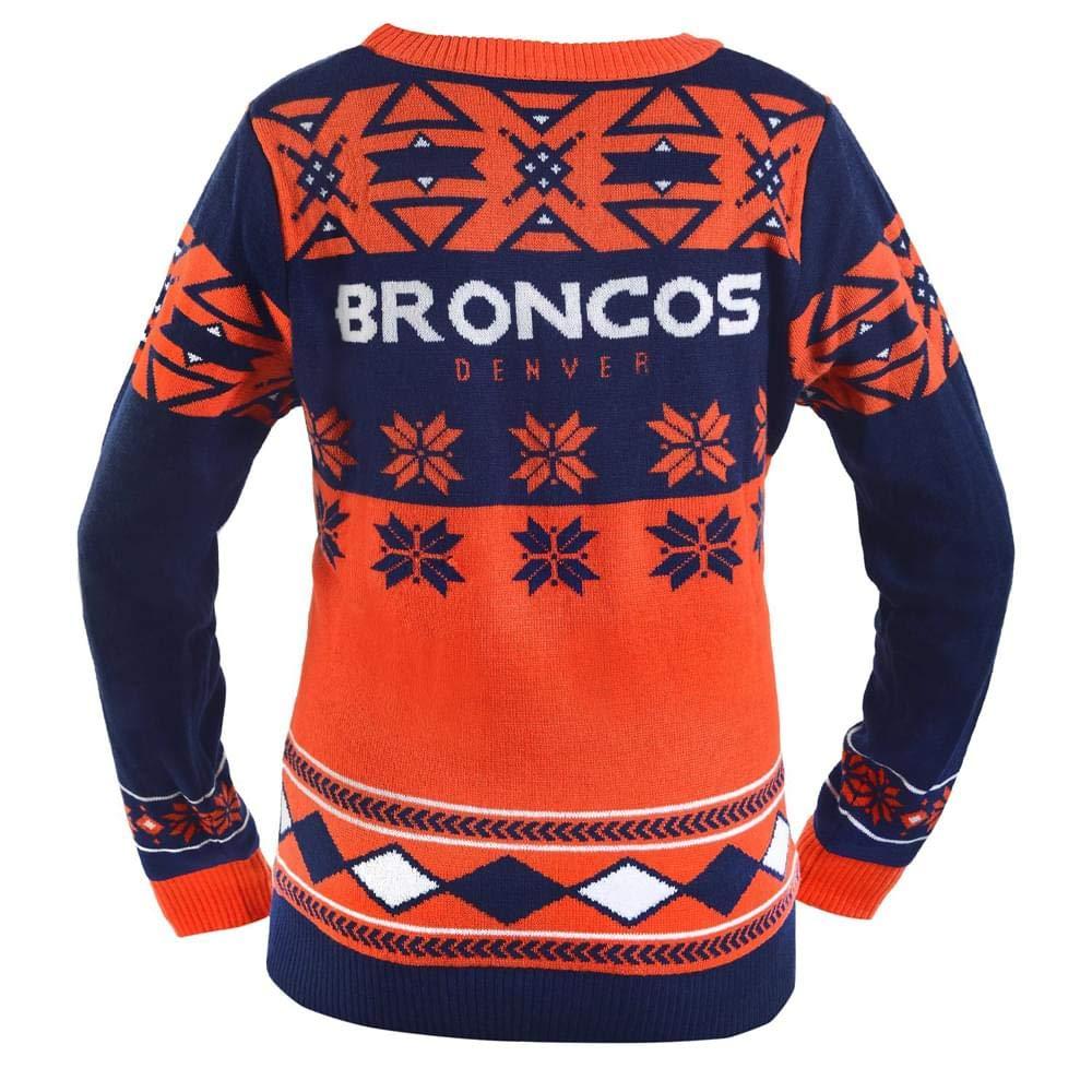 NFL Womens V-Neck Sweater Denver Broncos Small