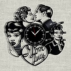 SofiClock I Love Lucy vinyl record clock 12, The Best Gift for Home Decor