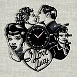SofiClock I Love Lucy vinyl record clock 12'', The Best Gift for Home Decor