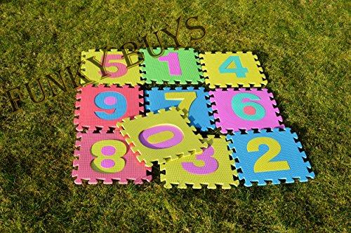 FunkyBuysChildrens Kids Soft EVA Foam Multicolors Complete Set Interlocking Play Matting Mats