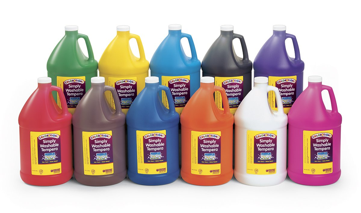 Colorations Simply Washable Tempera Paint - Gallon, Set of 11 Colors (Item # SWTGAL) by Colorations