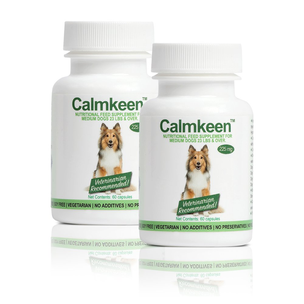 Calmkeen 225 mg 120 Count Nutritional Supplement for Medium Dogs 23 Pounds and Up (Formerly Calmkene)