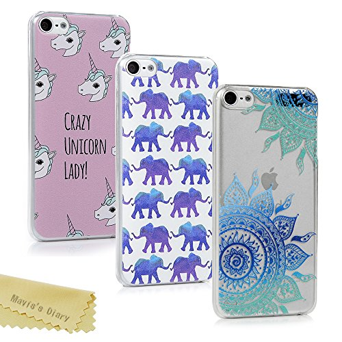 quite nice 900d7 1ea99 Mavis's Diary iPod Touch 6 Case 3 Pieces Ultra Thin Clear Hard PC ...