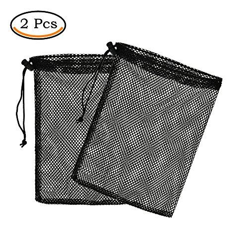 Suriel Nylon Mesh Nets Bag Pouch Golf Tennis 48 Balls Carrying Holder Storage(2 Pcs) (Mesh Golf Pouch)