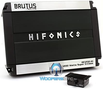 BE1200.1D - Hifonics Monoblock 1200W RMS 2400W Max Brutus Elite Series Class D Amplifier