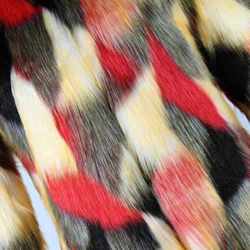 Fourrure Veste Manteau Ishine Outwear Shaggy Hiver En B Femmes Fausse Chaud Short Coloré xzzRrqI5w