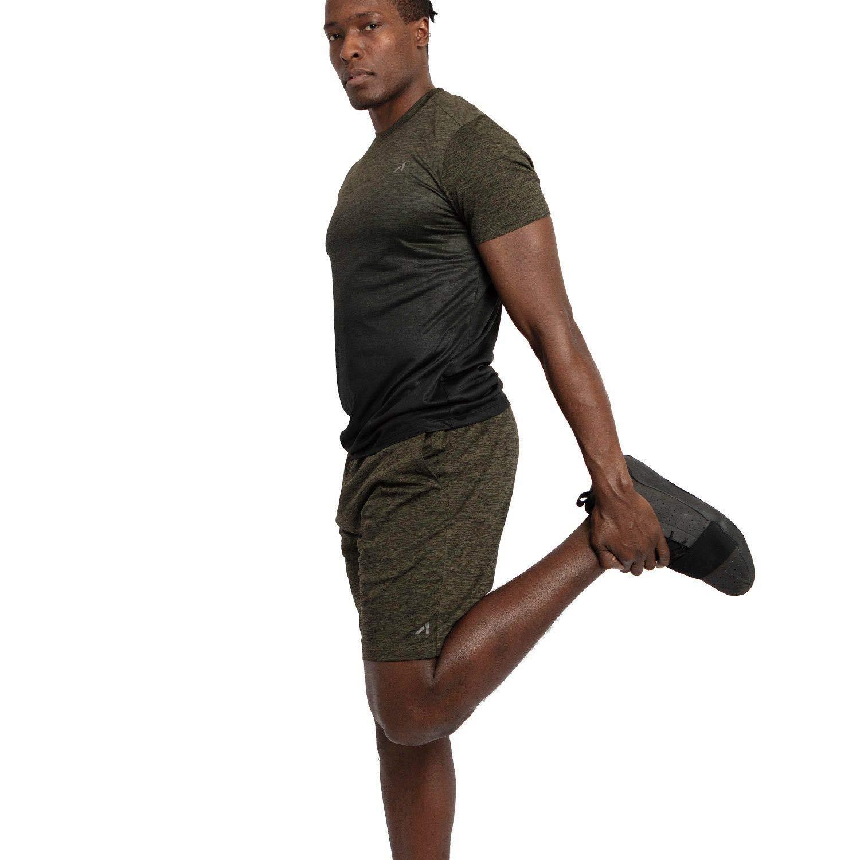 Alive Mens Tee Shirt Quick Dry Active Performance Short Sleeve Shirt