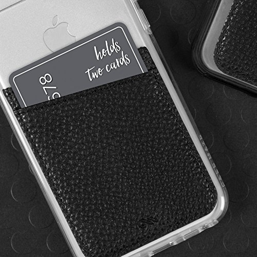 Case-Mate iPhone Apple Ultra-Slim Card Holder Universal fit Stick On Credit Card Wallet Pockets Galaxy Black and More Samsung