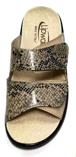 DAVEMA LIPWALK by Ciabatte Pantofole Donna MOD. 205 Beige con Plantare  Estraibile  Amazon.it  Scarpe e borse 8ec210d536c