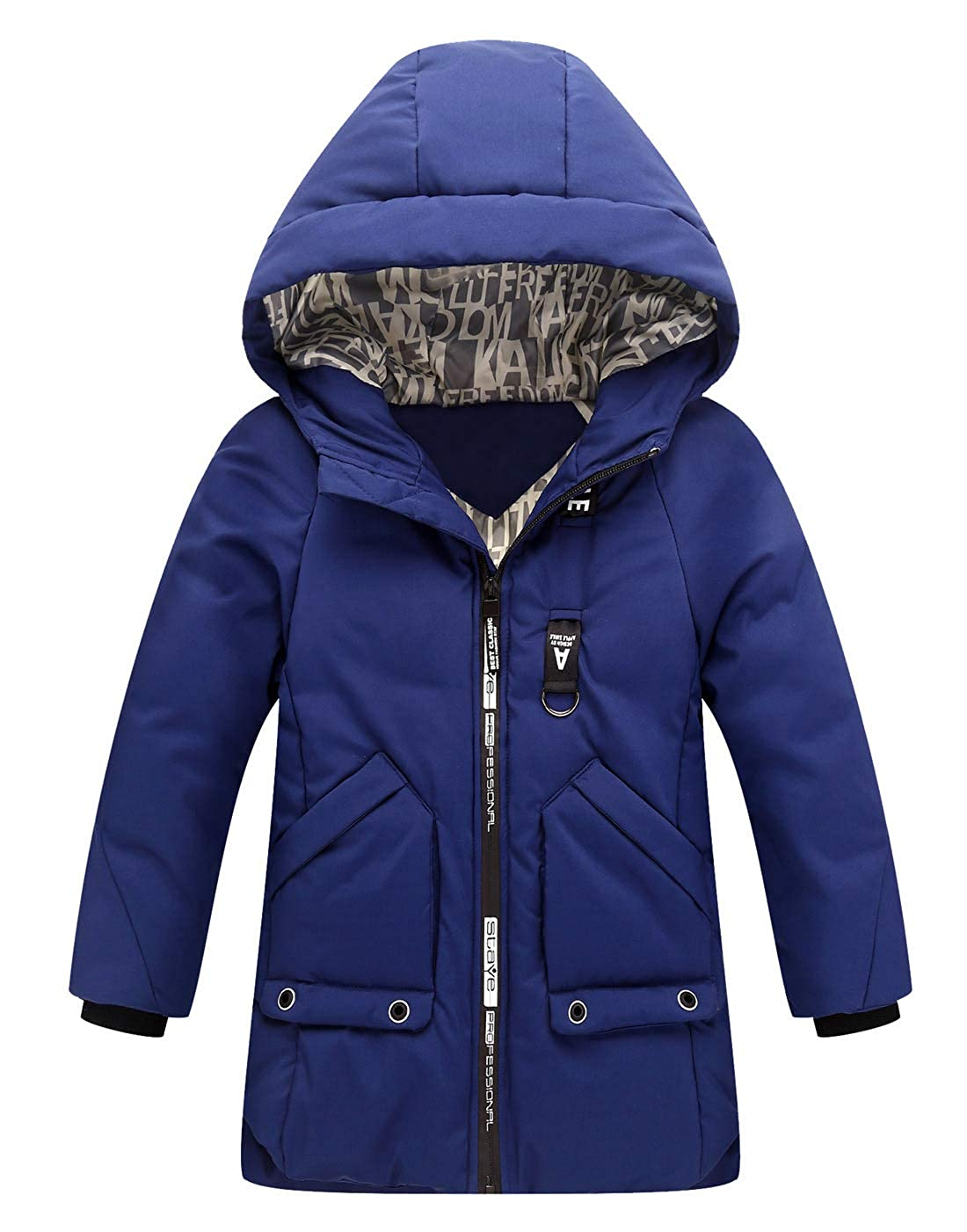 Aivtalk Boys Winter Warm Coats Stylish Hooded Jacket Windproof Thick Outerwear