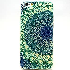 iPhone 6 Case, iPhone 6 (4.7 Inch) Case - Sunshine Case Fashion Style Colorful Painted Green Flower TPU Case Back Cover Protector Skin For iPhone 6 4.7Inch(Green Flower)