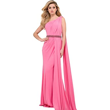 Jovani Ruched One Shoulder Formal Dress Pink 6 at Amazon Womens Clothing store: