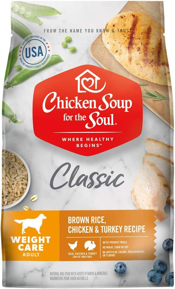 Chicken Soup for the Soul Weight Care Dry Dog Food - Brown Rice, Chicken & Turkey Recipe