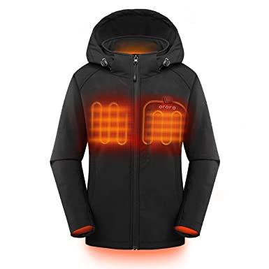Womens Heated Clothing >> Amazon Com Ororo Women S Slim Fit Heated Jacket With Battery Pack