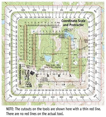 MapTools Improved Military Style MGRS/UTM Coordinate Grid Reader, and Protractor by MapTools (Image #3)