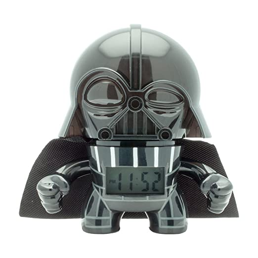 "Bulb Botz 2020183 Reloj Despertador para Niños, Star Wars Darth Vader, 3.5"", color Negro"