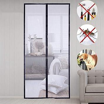 Dreamsbox Mosquitera puerta, mosquitera magnetica, Cortina Mosquitera Para Puertas,Cierre Magnético Automático Que Evita el Paso de Insectos,100 * 210cm (Negro): Amazon.es: Bricolaje y herramientas