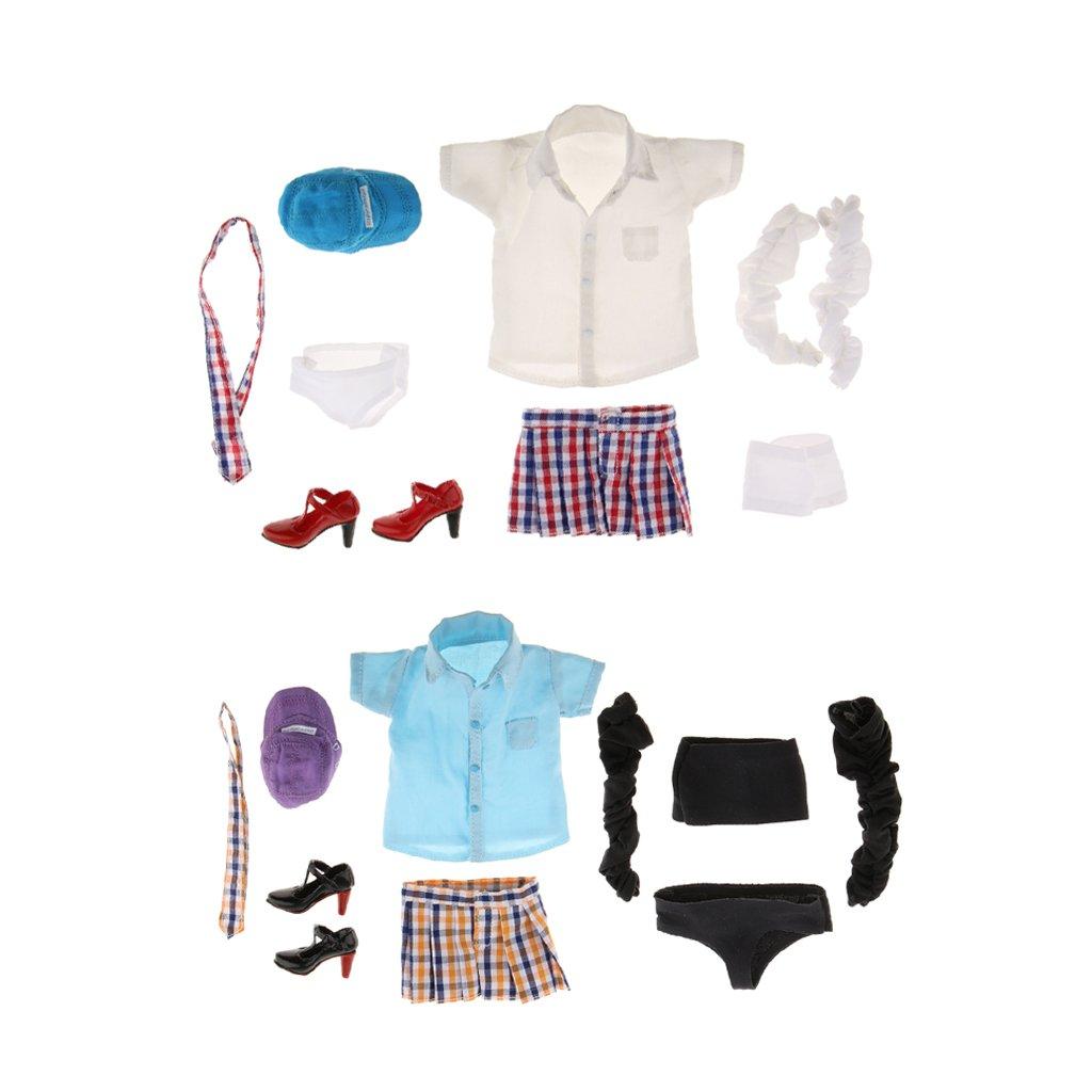 Gazechimp 2 Set de Escala 1/6 Ropa Camisa Top de Tubo Minifalda ...