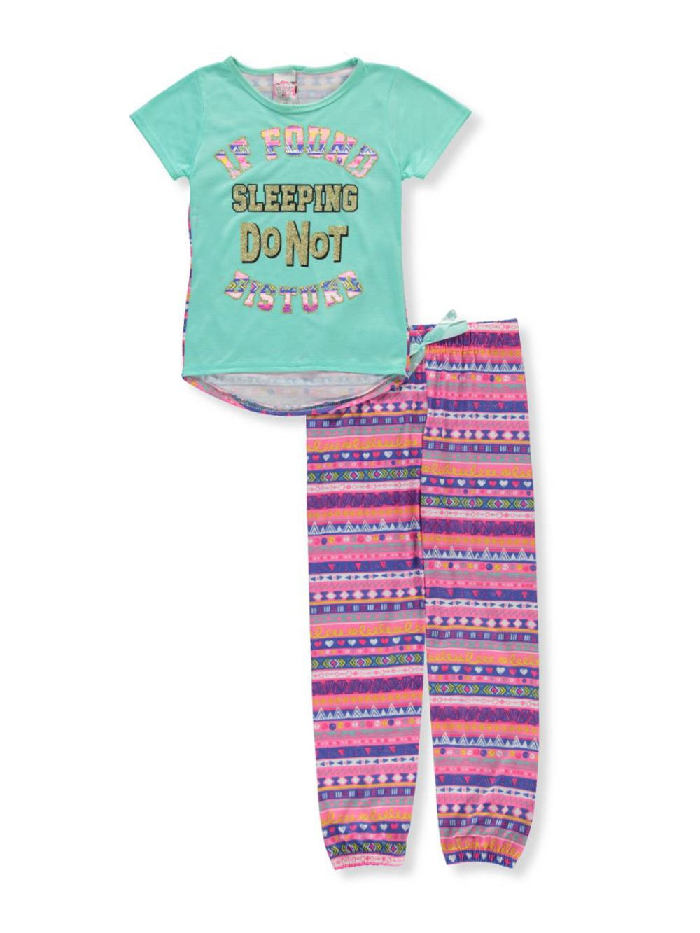Sweet n Sassy Girls' 2-Piece Pajamas 4