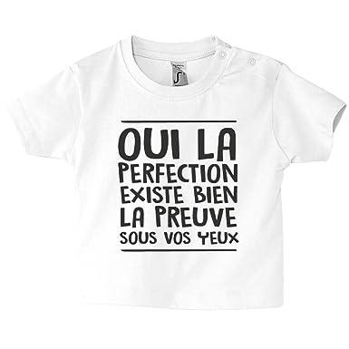 Tee Shirt Humour T Shirt Enfant Vêtement Bébé 100 Coton Manches