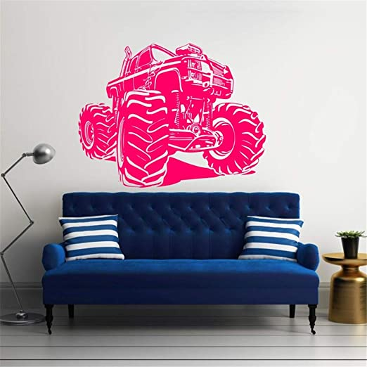 Ajcwhml Tatuajes de Pared camión Vinilo Racing Sticker Art Mural ...