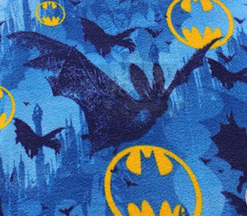 Polar Fleece Fabric Anti Pill Prints Batman Bats Blue / 60