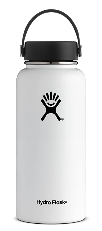b159727663 Amazon.com: Hydro Flask 64 oz Double Wall Vacuum Insulated Stainless Steel  Leak Proof Sports Water Bottle, Wide Mouth with BPA Free Flex Cap, White:  Kitchen ...
