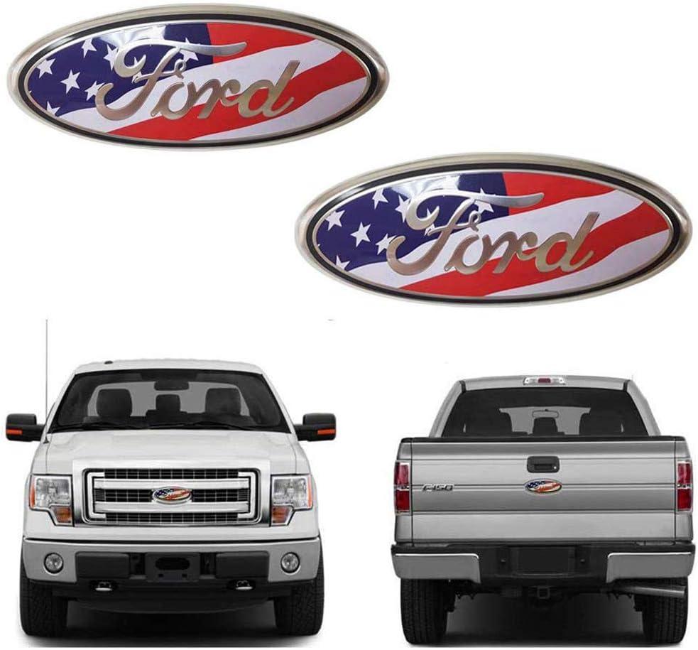 11-16 Explorer 11-14 Edge Front Grille Emblem F150 Emblem Ford Tailgate Emblem Oval 9X3.5 Fits for 04-14 F250 F350 9inch Ford Emblem 06-11 Ranger