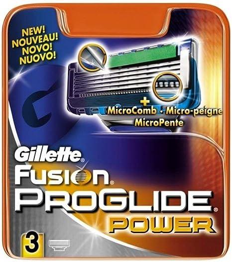 Gillette Fusion ProGlide Power Recambio de Maquinilla de Afeitar ...