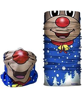 6c8255c77da7 RUFFNEK Rudolph Masque Design – Tête de Masque de Ski, Cache-col, écharpe