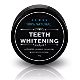 Tooth Whitener, FirstFly Teeth Whitening Activated Charcoal Powder Natural Organic Bamboo Toothpaste Whitens Stained Teeth (Black)