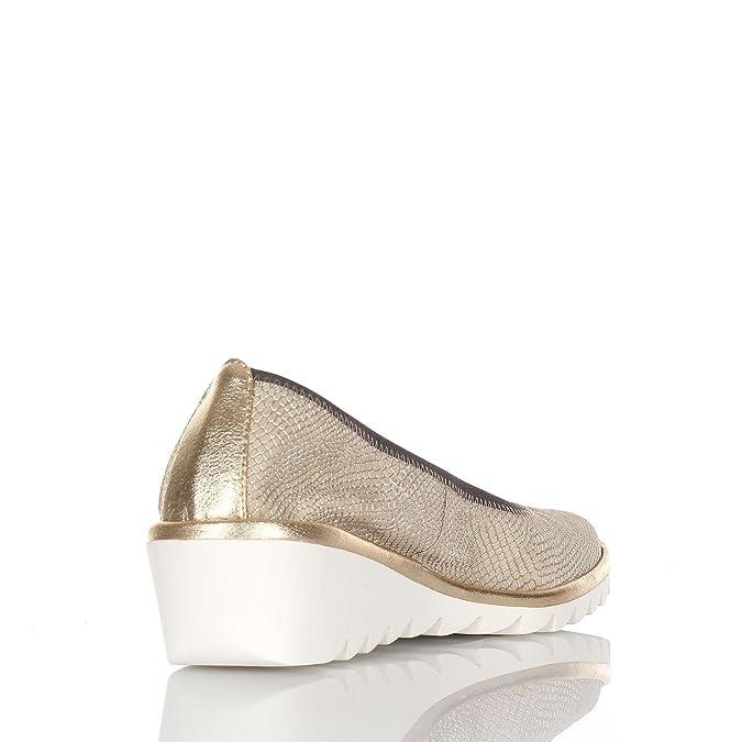 THE FLEXX Women dancers wedge shoes A206 / 22 MEL A DRAMA GOLDEN:  Amazon.co.uk: Shoes & Bags