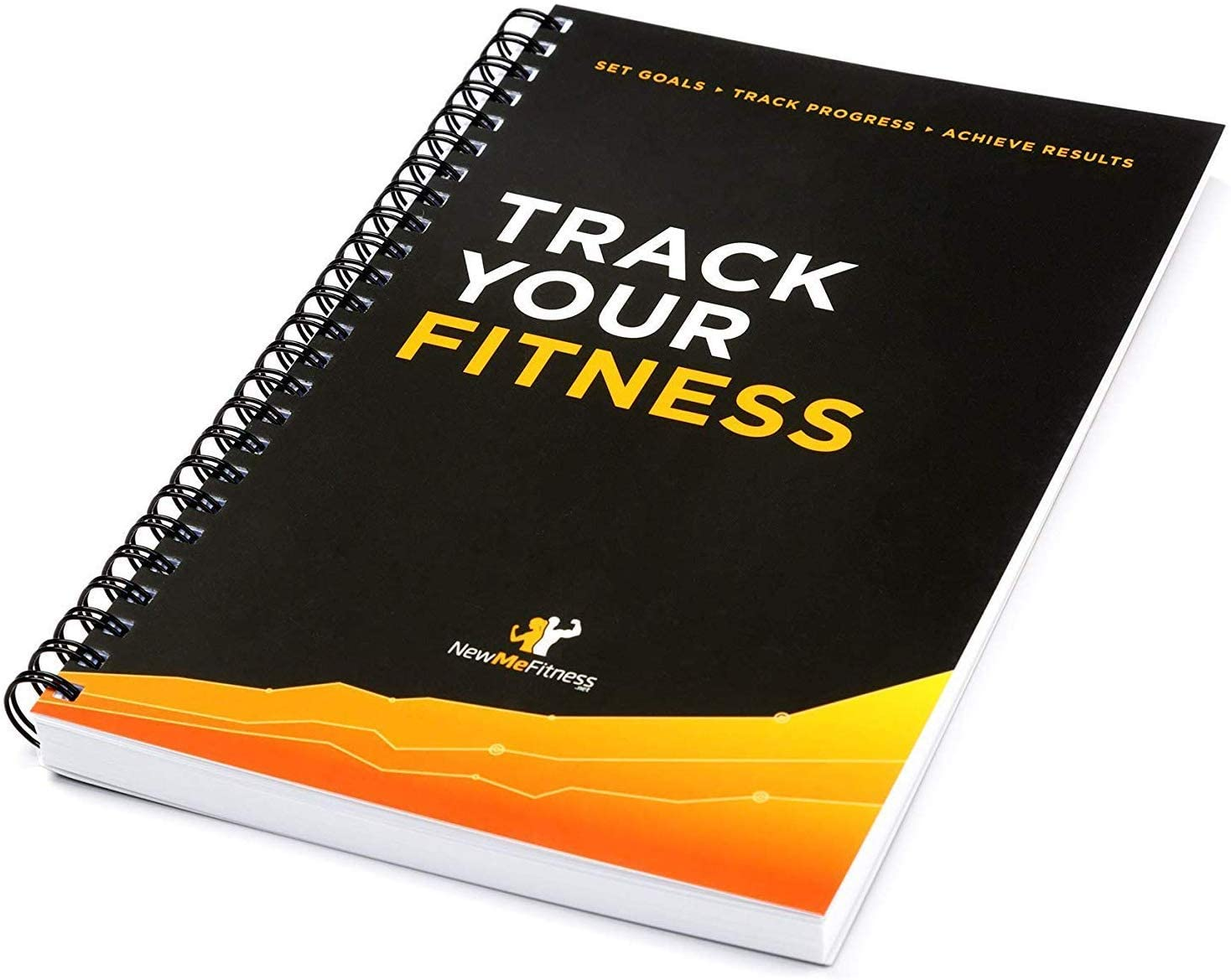 Workout Log Book & Fitness Journal - 25-Week Designed by Experts, w/Illustrations : Track Gym, Bodybuilding & Crossfit Progress - Sturdy Binding, Thick Pages & Laminated, Protected Cover 1-Pack : Sports & Outdoors